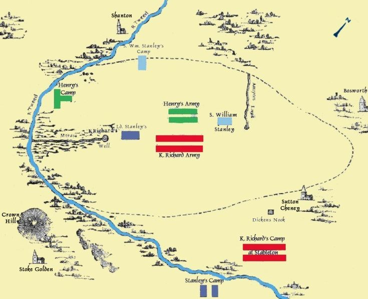 The Battle of Bosworth Field 1485 (Jones 111). Click thru for short & easy to understand history of 'Wars of the Roses'