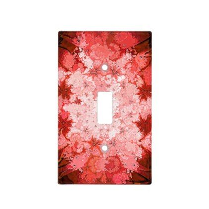 Colorful Red Kaleidoscope Abstract Fractal Pattern Light Switch Cover  $13.70  by MargSeregelyiPhoto  - cyo customize personalize unique diy idea