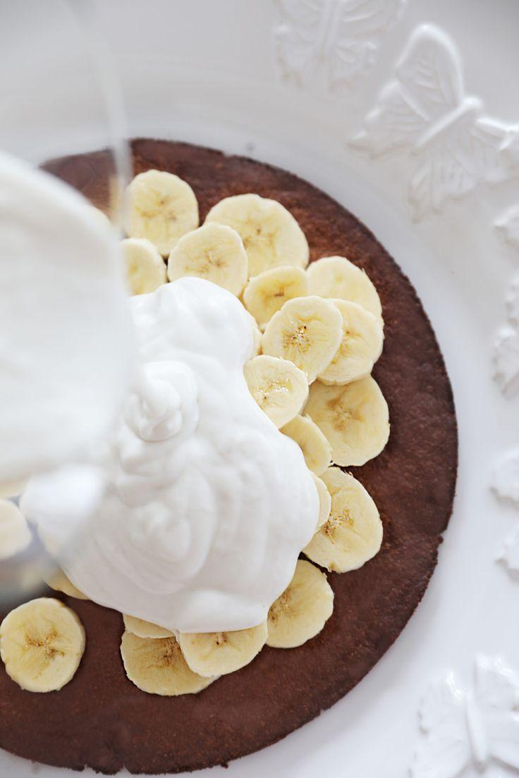 Otroligt Krämig Bananpaj (Vegan + Glutenfri)  #vegan #nyttig #glutenfri #sockerfri #recept