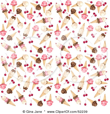 pink ice cream in cones | scrapbooking Bg.'s | Paper ...