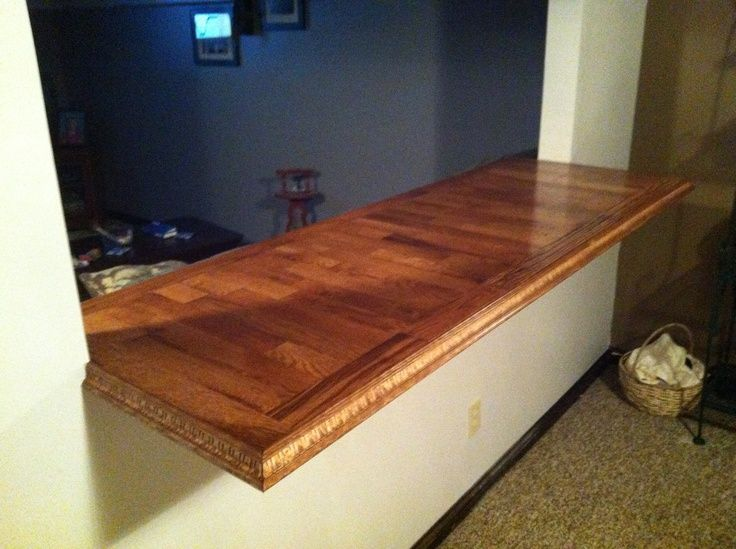 Countertop Out Of Leftover Hardwood Flooring Home Decor