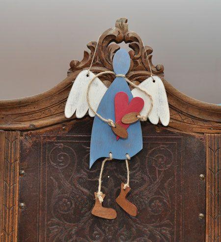 Big angels UNLIKE ANGEL, Wood Angel, Hanging Angel, Christmas Angel, Christmas decoration