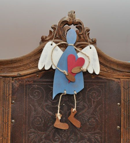 Big angels UNLIKE ANGEL Wood Angel Hanging Angel by MaduuDesign