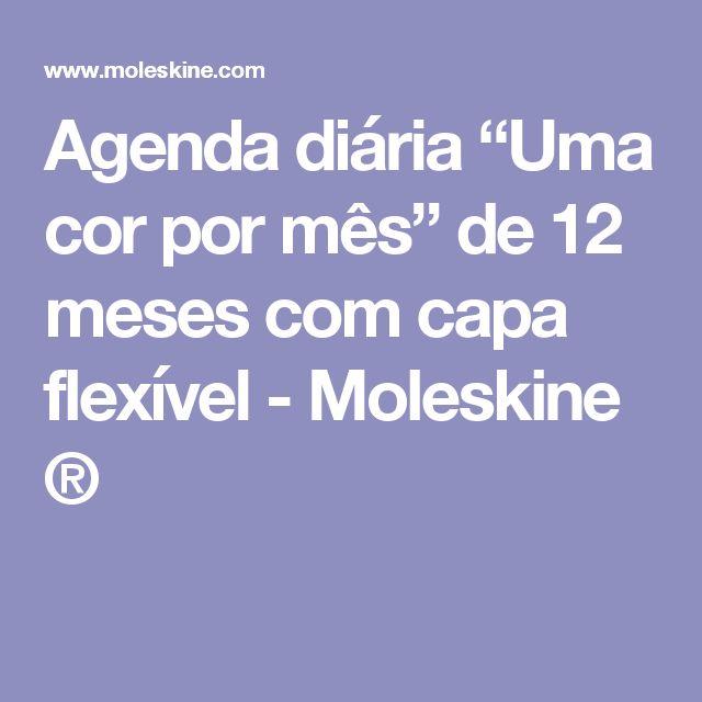 """Agenda diária """"Uma cor por mês"""" de 12 meses com capa flexível - Moleskine ®"""
