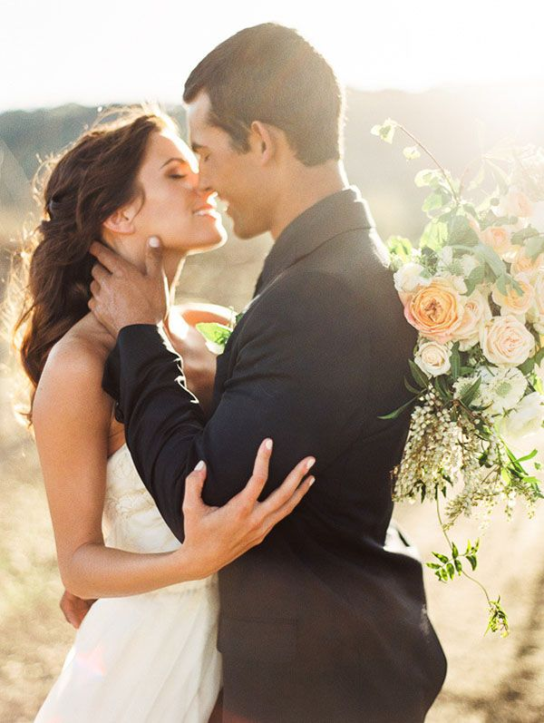 Magic Hour Wedding Portraits in the Vineyards | Danielle Poff Photography
