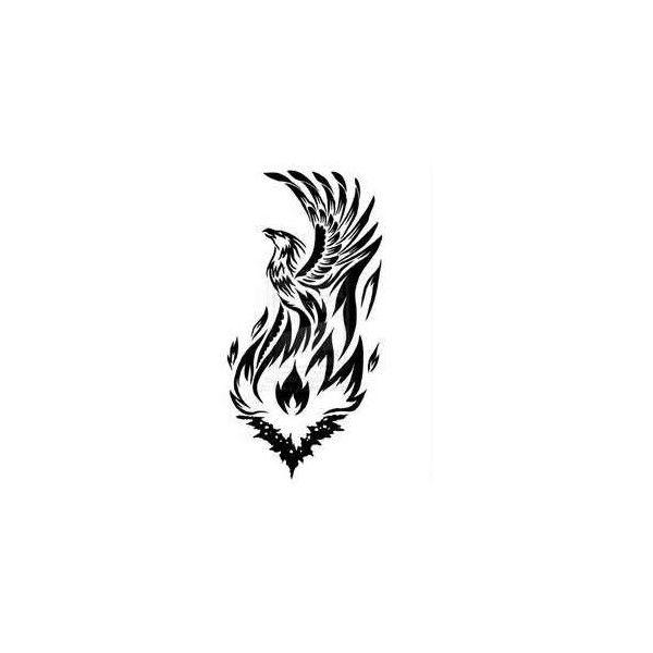 Tribal Phoenix Tattoo phoenix ❤ liked on Polyvore