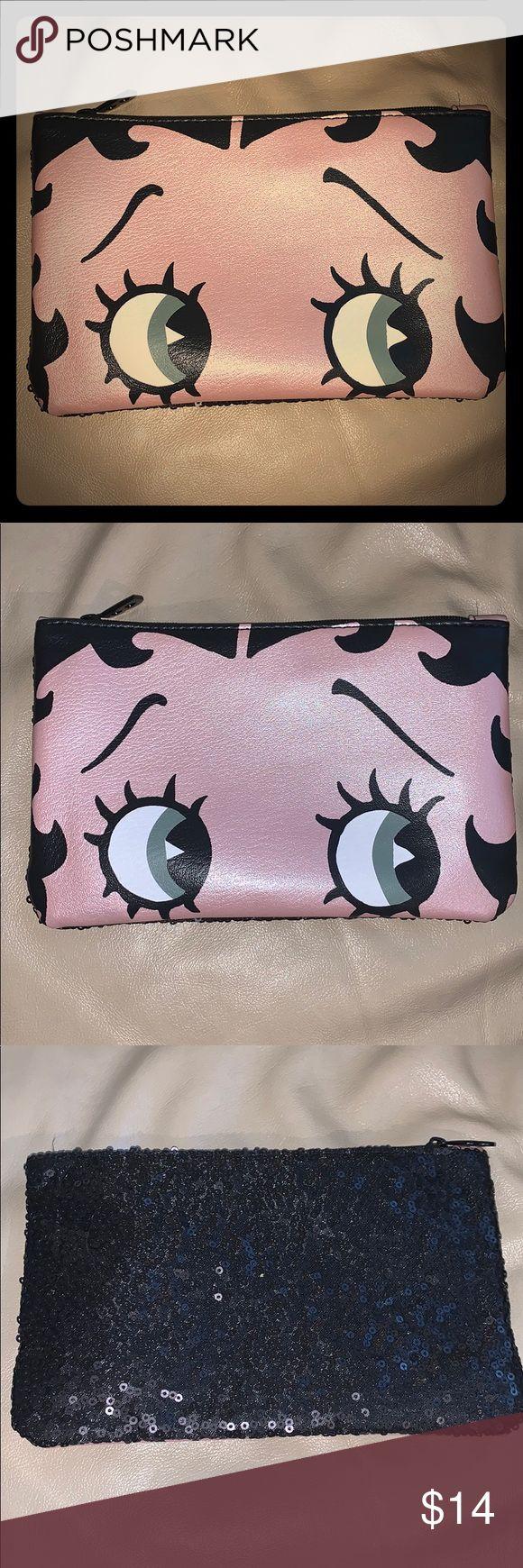 Betty Boop Ipsy makeup bag brand new New unused Ipsy