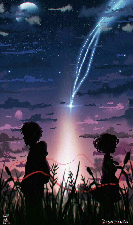 Kimi No Na Wa Pemandangan Abstrak Pemandangan Anime Fotografi Alam
