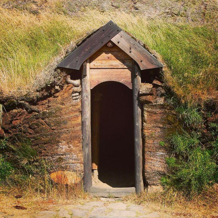 A warm house, a cozy home. #longhouse #vikinghouse #doorway #house #cozy #home #viking #vikings #vikingreenactment #heathen #heathens #heathenshorns #norse #pagan #asatru #odin #thor #drinkinghorns