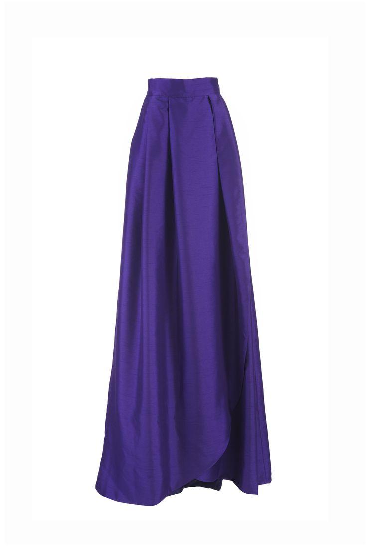 Falda larga Victoria morada Miticca by Isabella Gobarodi