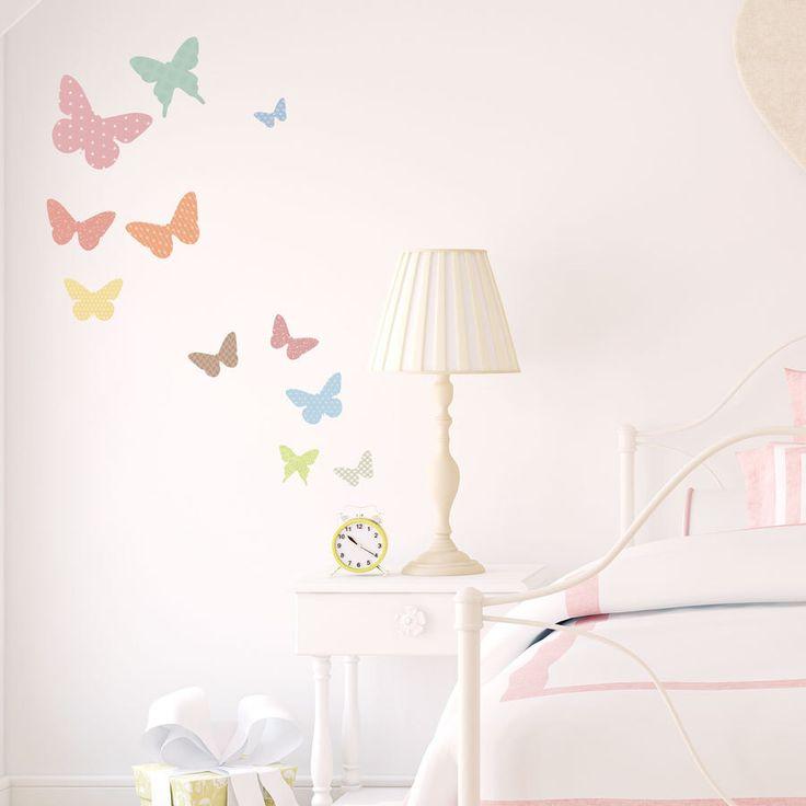 Pattern Butterflies Printed Wall Decal-Butterfly Wall Sticker, Flying Butterflies, Butterfly Nursery Decor, Nature Wall Decal,Butterfly Room by WallumsWallDecals on Etsy https://www.etsy.com/listing/218215446/pattern-butterflies-printed-wall-decal