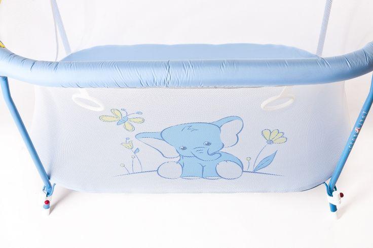 Манеж детский прямоугольный Голубой слон