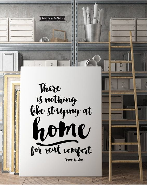 There is nothing like staying at Home Quote by TheIvyLetterShop