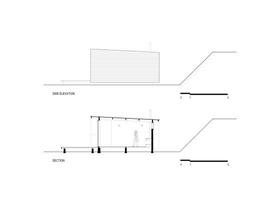 Planos de elevación y de sección