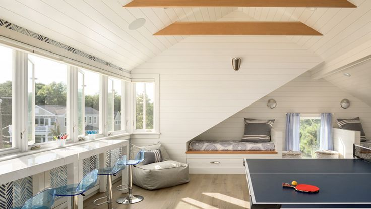 beach house game + bunk room | Whitten Architects