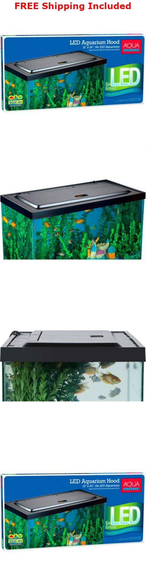 Aquariums and Tanks 20755: Aqua Culture Led Aquarium Hood For 20/55 Gallon Aquariums Fish Tank Lights (New) BUY IT NOW ONLY: $50.27