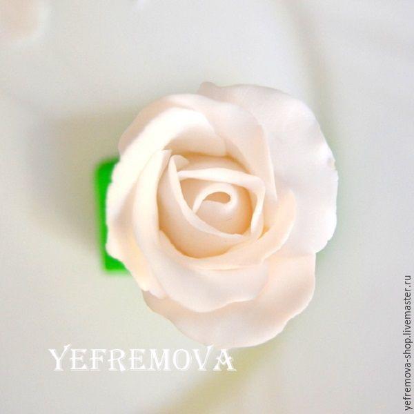 Лепим розу из полимерной глины. Правила работы с белой пластикой - Ярмарка Мастеров - ручная работа, handmade