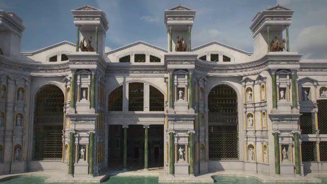 In continuità con i grandi lavori, che negli ultimi anni hanno interessato le Aule delle Terme di Diocleziano, consentendo la riapertura al pubblico delle aule X, XI e XI bis, ora si può nuovamente visitare uno dei maggiori capolavori dell'architettura antica, il grandioso prospetto della natatio delle Terme. L'imponente facciata, rappresentata in moltissimi disegni e stampe dal Cinquecento all'Ottocento, si specchiava sull'enorme piscina (natatio), che si estendeva per oltre 4000 mq; ...