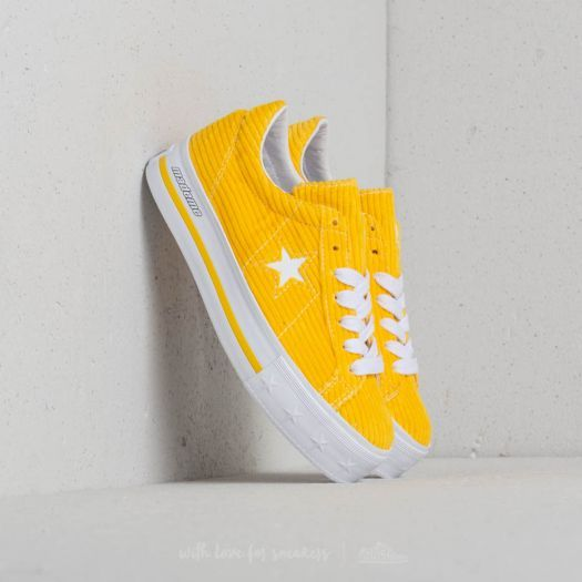 ee4b3dd93a95bc Converse x Mademe One Star Platform OX Vibrant Yellow in 2019 ...