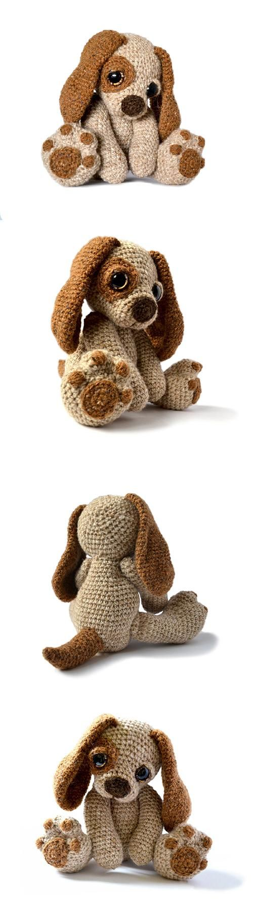 Found at Amigurumipatterns.net I would love to make this sweet puppy.: