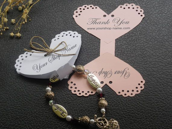 Bracelet tags necklace tags jewelry display cards por MeerMemories