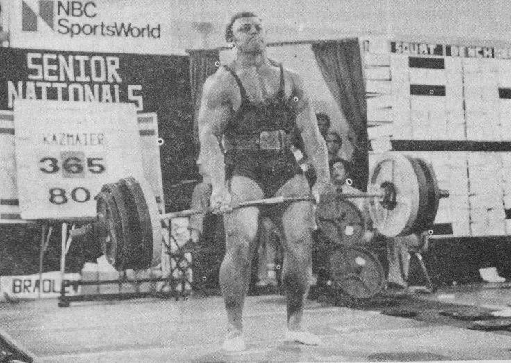 Bill Kazmaier, powerlifter and strongman.