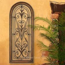 FRENCH TUSCAN ITALIAN Arched Window MEDITERRANEAN Wall Grille Panel ~ 4 ft TALL in Home & Garden, Home Décor, Wall Sculptures | eBay