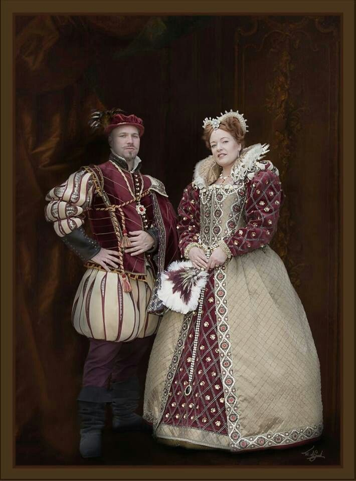 Queen Elizabeth and Robert Dudley. Costumes made by Angela Mombers. Picture by Frans de Groot.