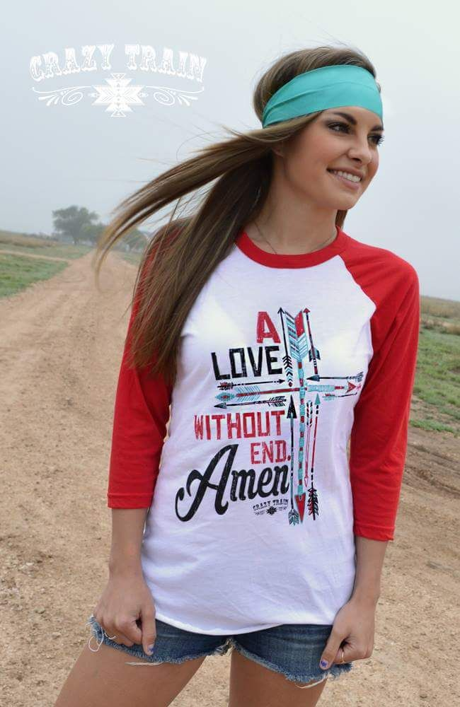 A Love Without End Amen Baseball Top - Also in Plus Size