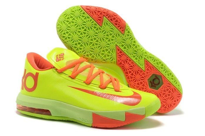 Nike Air Jordan MensNike Air Jordan Mens Nike Zoom KD V Nike Zoom KD VI Mens Skor Gron Orange