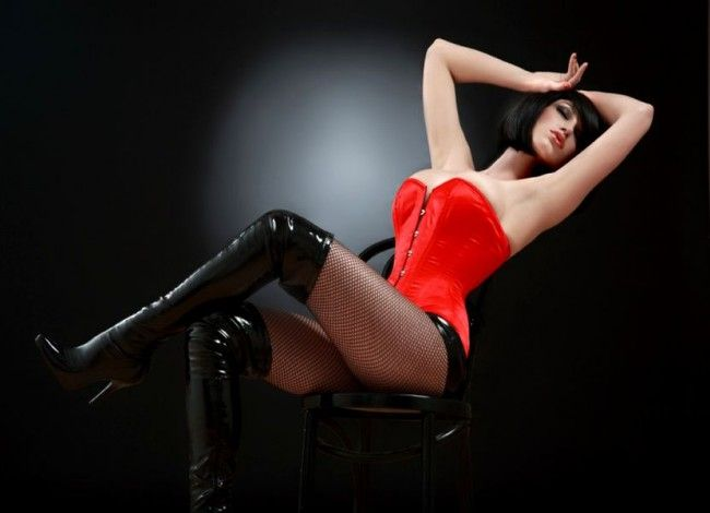 """""""Latex Red"""" corset, fetish, love, passion"""