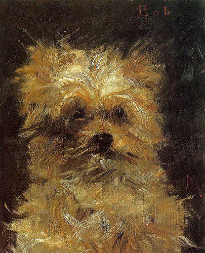 Edouard Manet, Retrato de um cão, Bob, óleo sobre tela, 1876