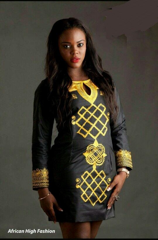 African Embroidered Clothing African Dress African Style by PageUk  ~African fashion, Ankara, kitenge, African women dresses, African prints, Braids, Nigerian wedding, Ghanaian fashion, African wedding ~DKK