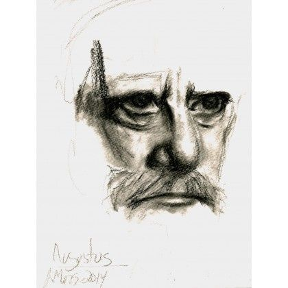 Augustus || An original portrait from Augustus. I was interested in the light on the subject. I did this one with fusain in 2014. The sketch is on a paper of 12'' by 9 ''