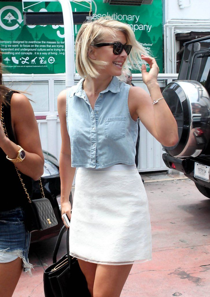 Julianne Hough Mini Skirt - Wearing TopShop