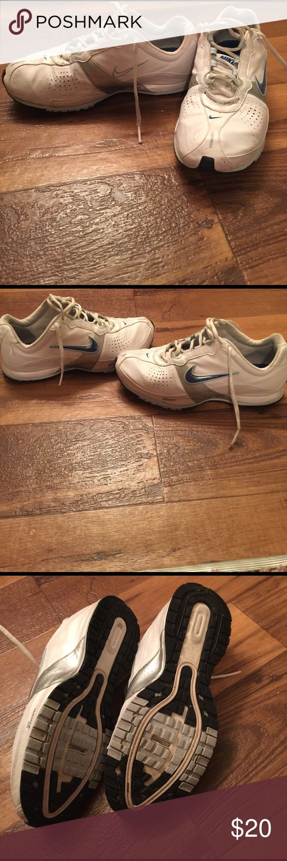 8 Nike Zoom Room Gym shoes 8 white Nike Zoom Run Gym Shoes.Good condition and are very comfortable... Nike Shoes Athletic Shoes