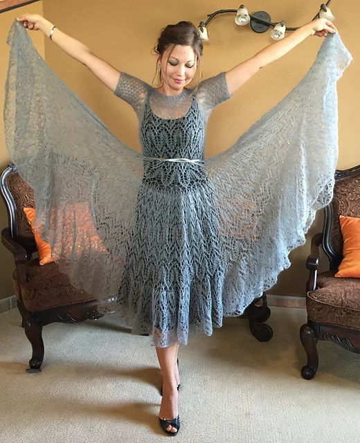Ravelry: tatty152's #21 Lace mohair dress (Icicle)