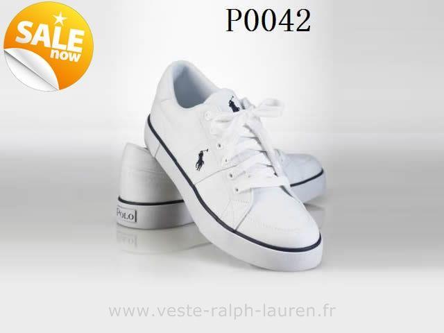 officiel polo by Ralph Lauren hommes toile cantor low shoe sport pas cher 0042 blanc e Ralph Lauren Chaussure Bateau