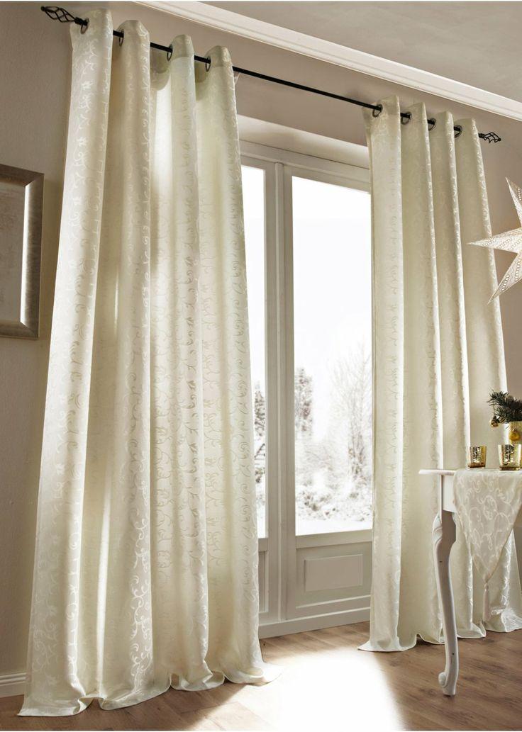 schlaufen gardinen creme pauwnieuws. Black Bedroom Furniture Sets. Home Design Ideas