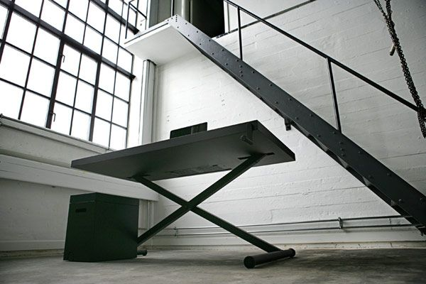 Height-adjustable minimalist desk encouraging working while standing -XTable #furniture #table