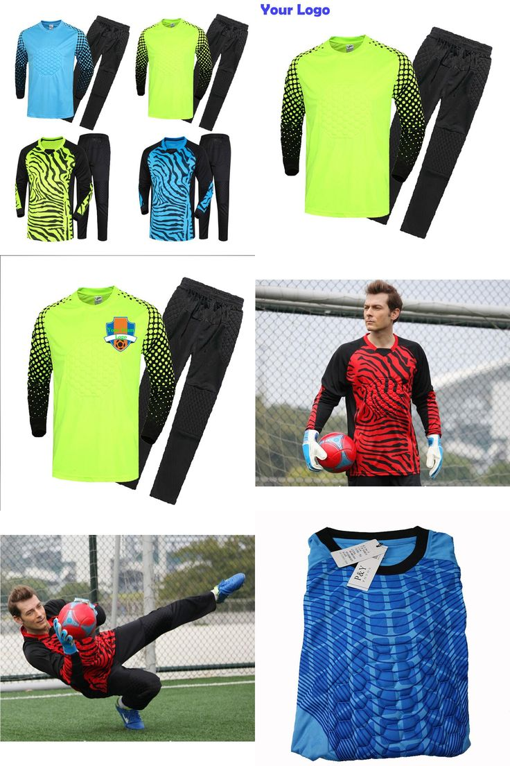 [Visit to Buy] Top Can Customized Men's Soccer Goalkeeper Jersey Set Sponge Protector Suit Camisetas De Futbol Jersey Kids Goal Keeper Uniforms #Advertisement