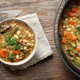 Navy Bean & Farro Vegetable Soup