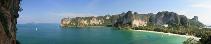 Railay, Thailand. The only way to get here is by longtail boat.