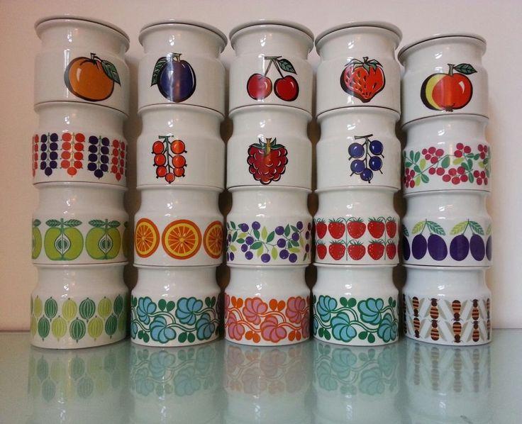 Arabia Finland, honey Jar, Pomona jelly jam jar