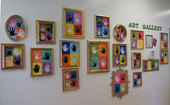 Printed hands following an Andy Warhol inspired Pop Art theme