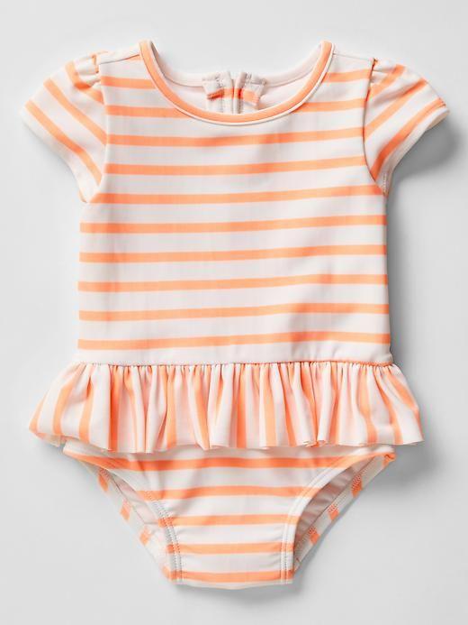 4202c13db1d8d Stripe peplum swim one-piece | Gap | Swimming | Baby girl swimwear, Baby  swimwear, Baby swimsuit