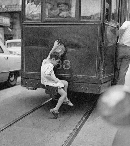 Athens tram 1959  Οδηγέεε καβαλάνε