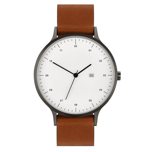 INSTRMNT 01-A (gunmetal/tan) | Designer Watches | Dezeen Watch Store