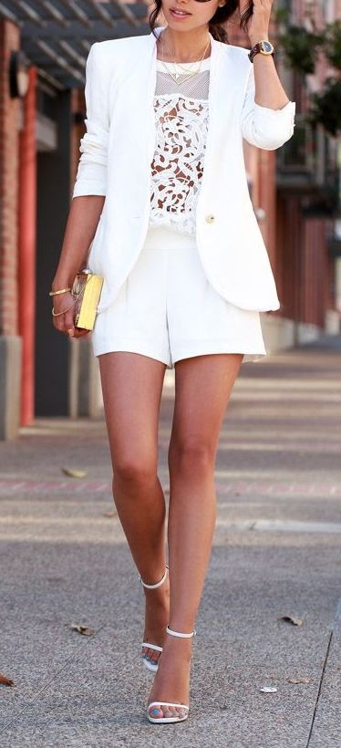 Pull together a more polished look with shorts by pairing it with a tailored blazer.