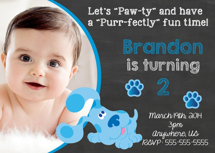 17 Best images about Blues Clues Birthday Invitations and Party – Blues Clues Party Invitations
